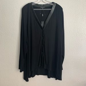 Cable & Gauge | NEW black long sleeve blouse 2X